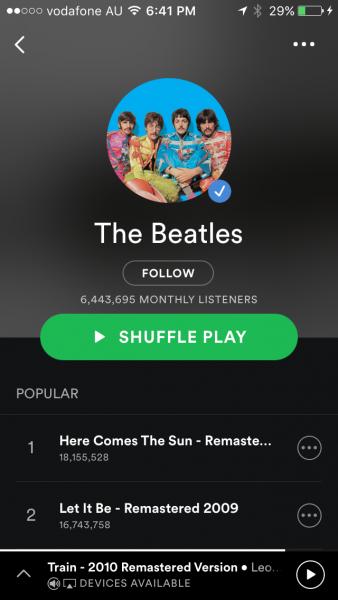 The Beatles Polska: The Beatles na Spotify - 50 milionów razy w ciągu 48 godzin