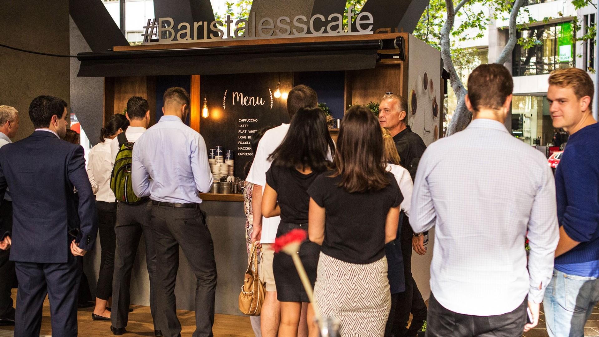 The Barista-less Cafe queue 4