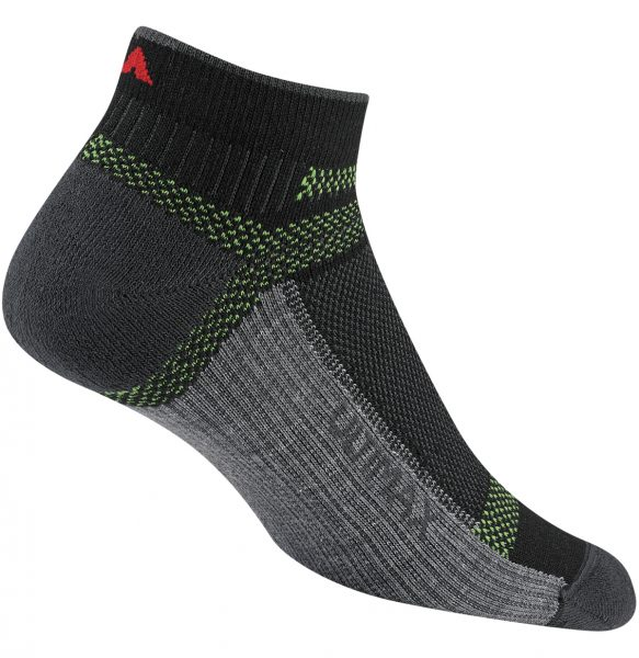 F6281Ultra Cool-Lite LowUltra-lighweight ➊ Ultimax® Pro enhanced with Dri-release® TENCEL®       for rapid moisture evaporation ➋ Breathable mesh panels ➌ Seamless toe closure 42% Stretch Nylon, 35% X20° Acrylic,  20% Dri-release° TENCEL° (88% Polyester, 12% Tencel°), 3% Spandex