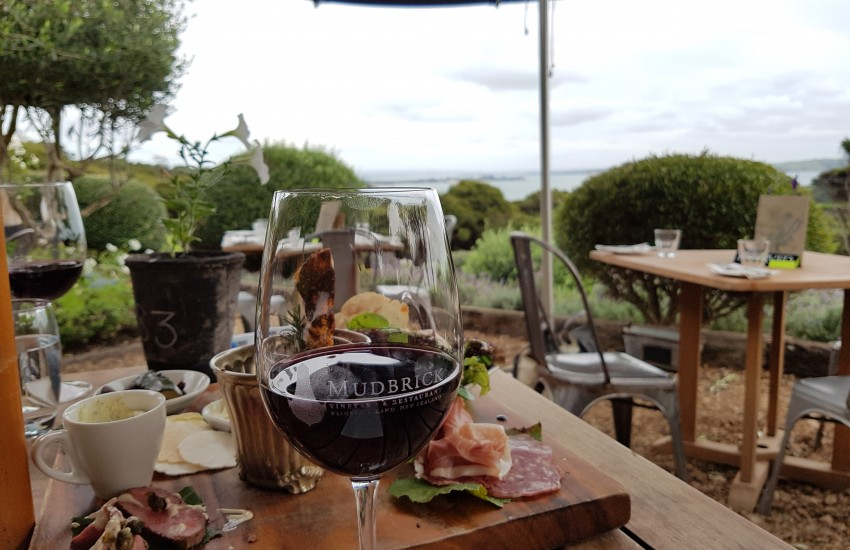 Mudbrick for tastings and lunch