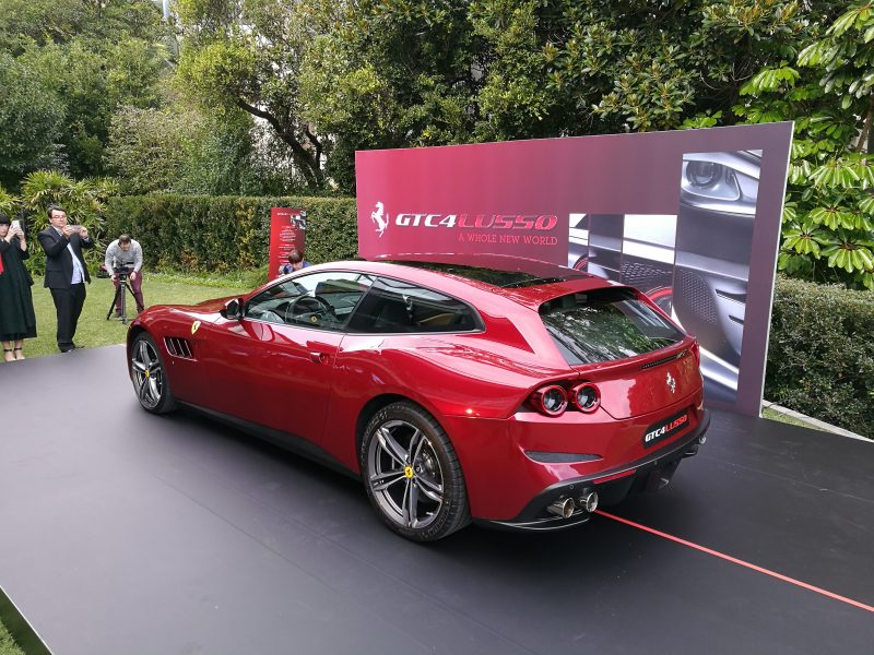 Quick snap of the new Ferrari GTC4Lusso at the Sydney Launch