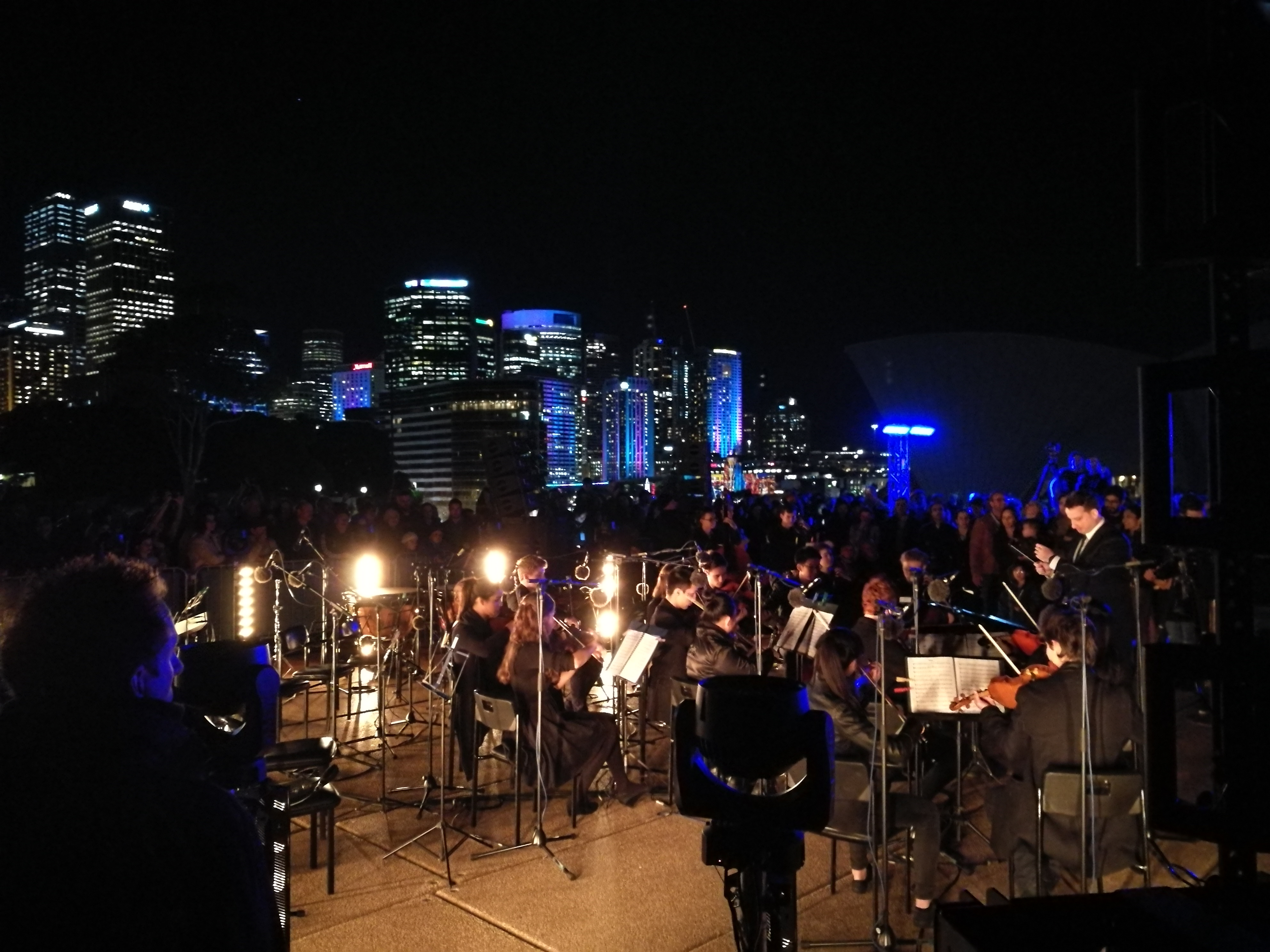 Night shot, taken at the Opera House of the Orchestra