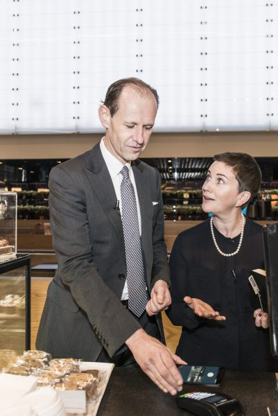 ANZ CEO Shayne Elliott, and General Manager Deposits & Payments Katherine Bray