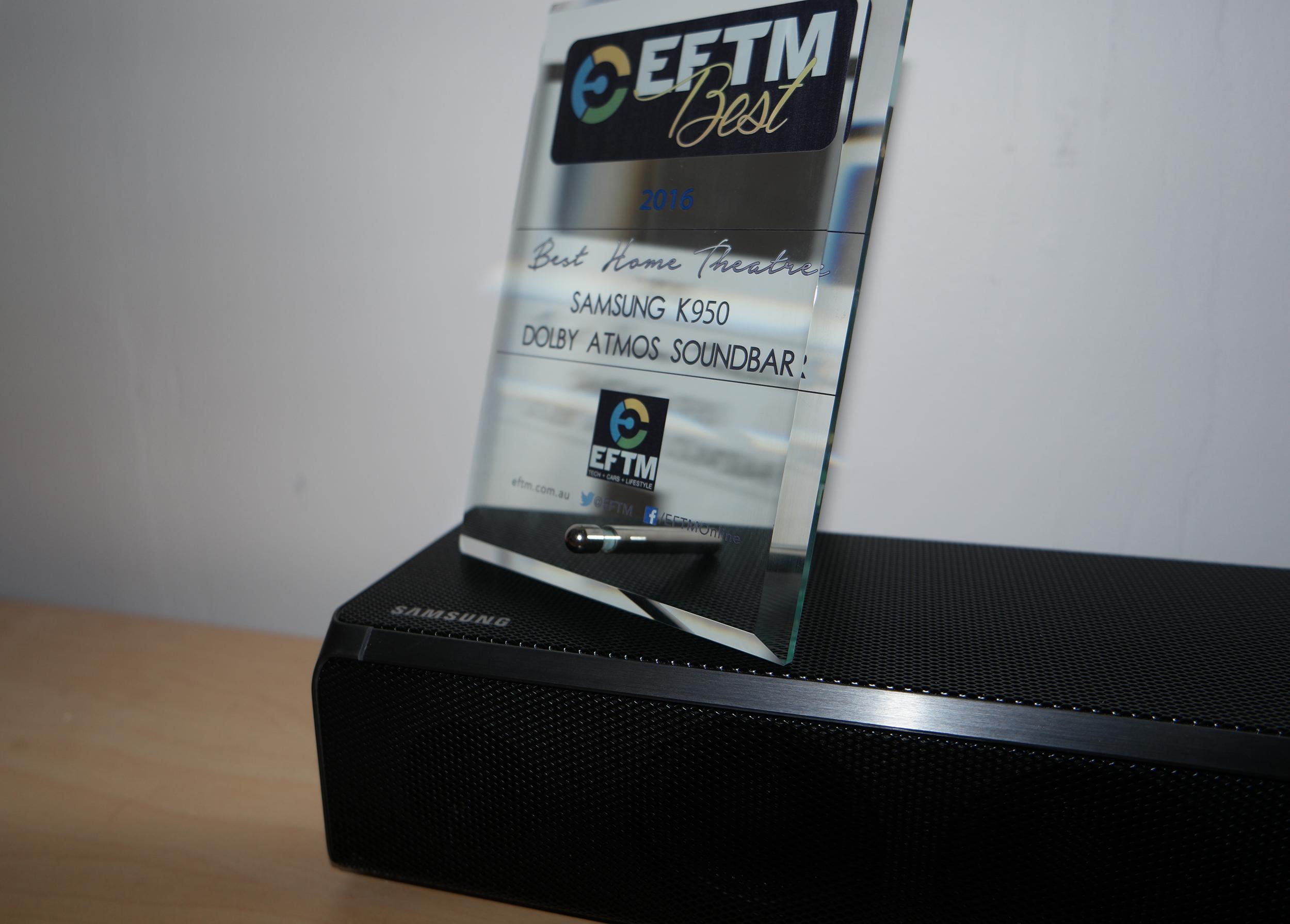 EFTM Best Home Theatre: Samsung K950 Dolby Atmos Soundbar » EFTM