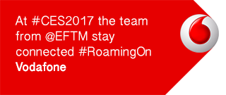 At #CES2017 the team from @EFTM stay connected #RoamingOn Vodafone