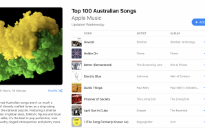 Apple's playlist for Australia day: Top 100 Aussie Songs