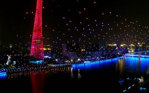 EHang takes Intel's crown with a 1,000 drone light show