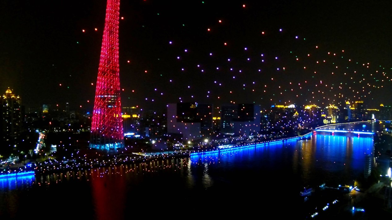 Ehang Takes Intel S Crown With A 1 000 Drone Light Show 187 Eftm