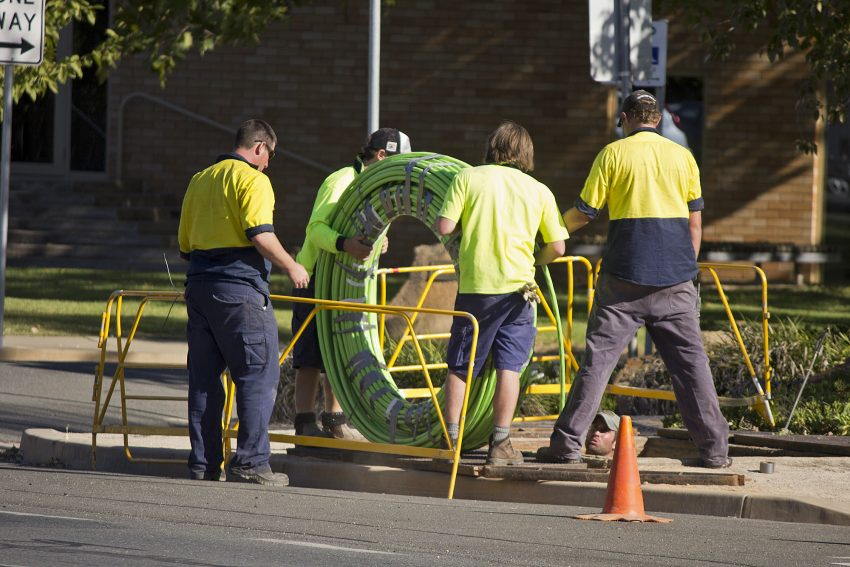 NBN_Co_fibre_optic_cable_being_laid_in_Tarcutta_St_in_Wagga_(7)