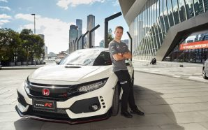 Stoffel Vandoorne takes the first Honda Civic Type R in…