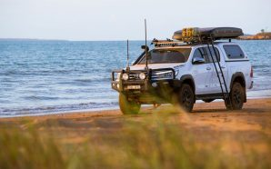 Folding Ladder for your next 4X4 Adventure from Aussie Rhino-Rack