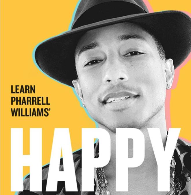 "Learn Pharrell Williams' ""Happy"" on the iPad thanks to ... |Pharrell Happy Girl"