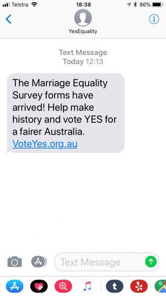 Political activists exploit Spam Act loophole: Vote YES campaign
