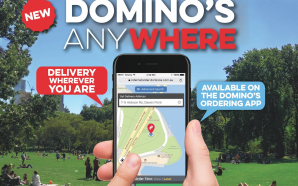 "Pizza at the beach? Easy – Domino's now delivery ""Anywhere"""