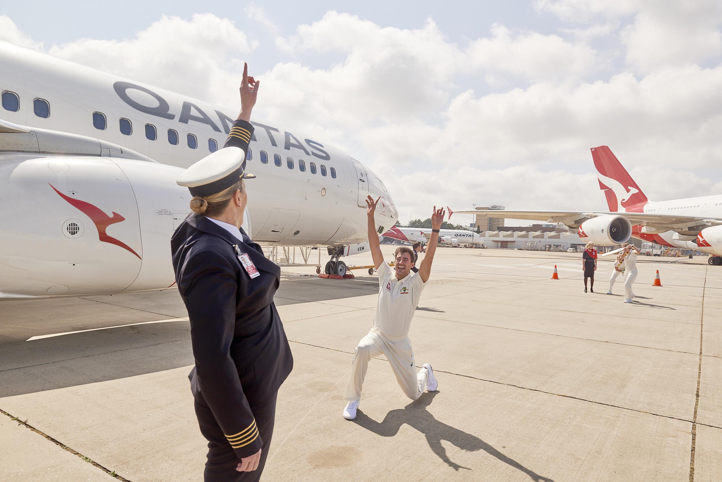 Stream the Cricket this summer from 30,000 feet using Qantas