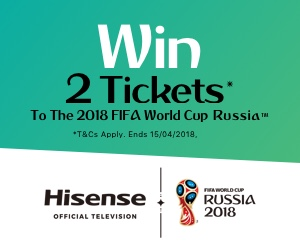 WIN Tickets to the 2018 FIFA WORLD CUP