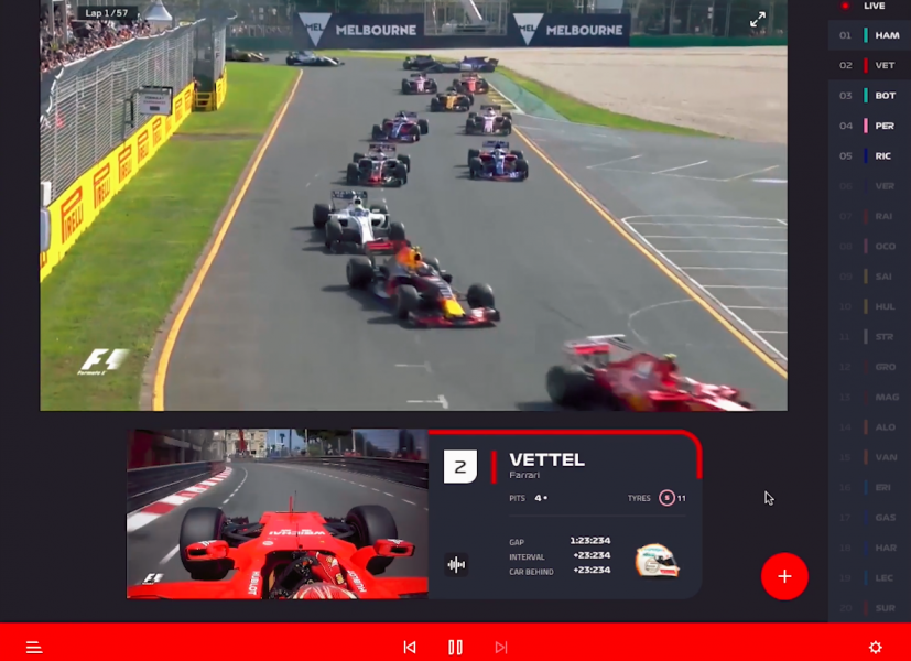 F1 showcases live streaming app for paid users » EFTM