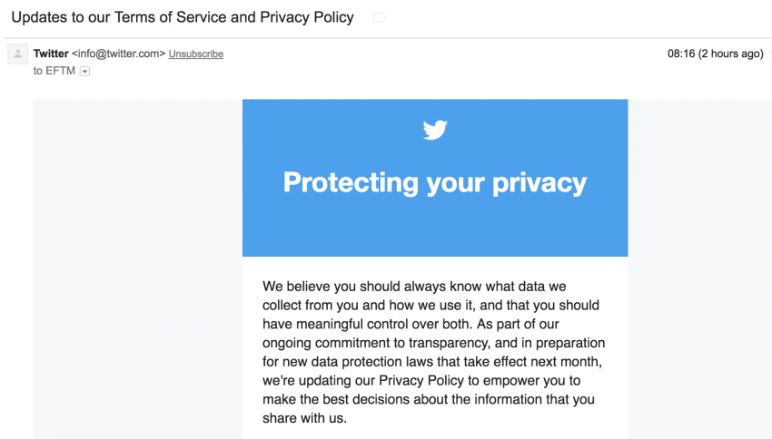 Privacy Policy >> Why So Many Companies Are Announcing Updates To Their