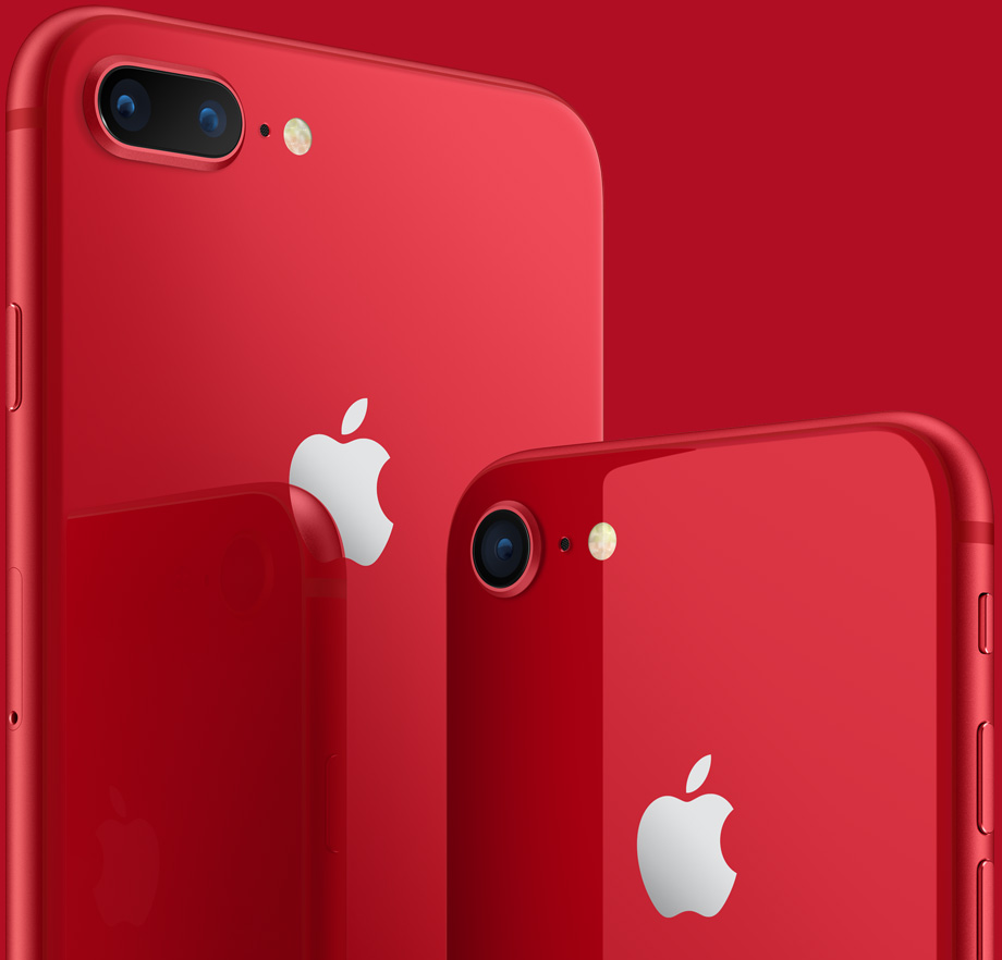 f31ce6447f6cda Apple introduces (Product) RED Special edition iPhone 8 and 8 Plus ...