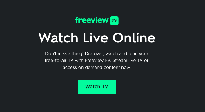 Watch Free to Air TV in your web-browser: Freeview FV on the Web