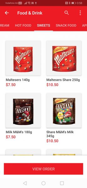 Order your movie snacks - There's an App for that: Hoyts has