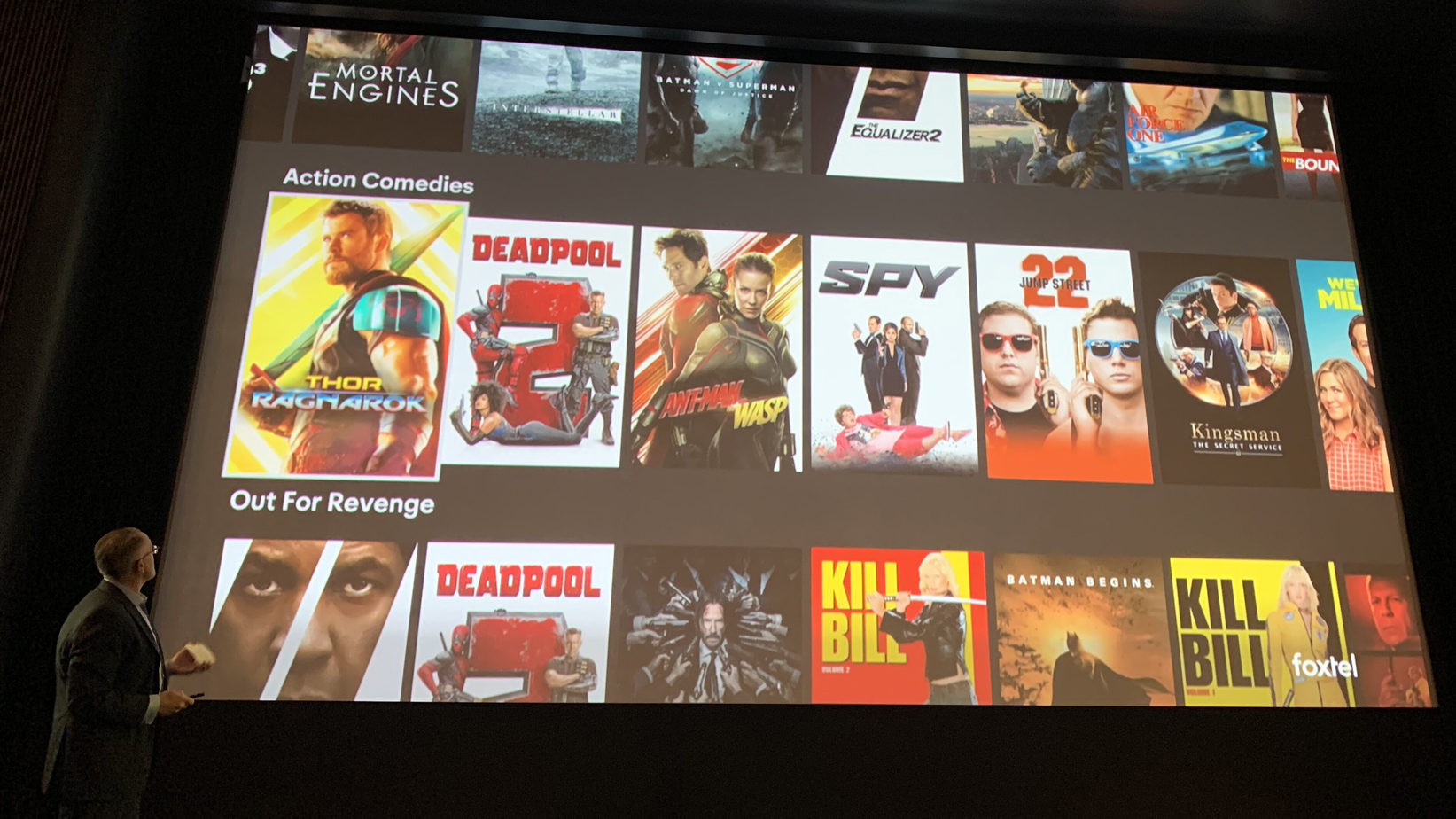 The all-new Foxtel Experience - look familiar? Foxtel