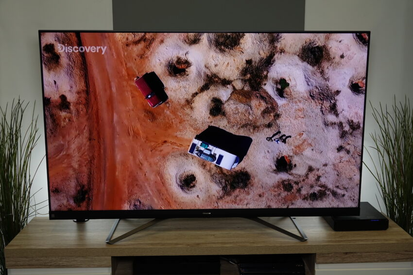 Hisense Q8 Shot from above and showing the overall TV