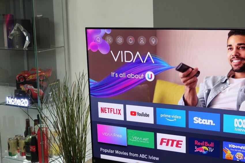 Hisense Q8 VIDAA logo and display screen