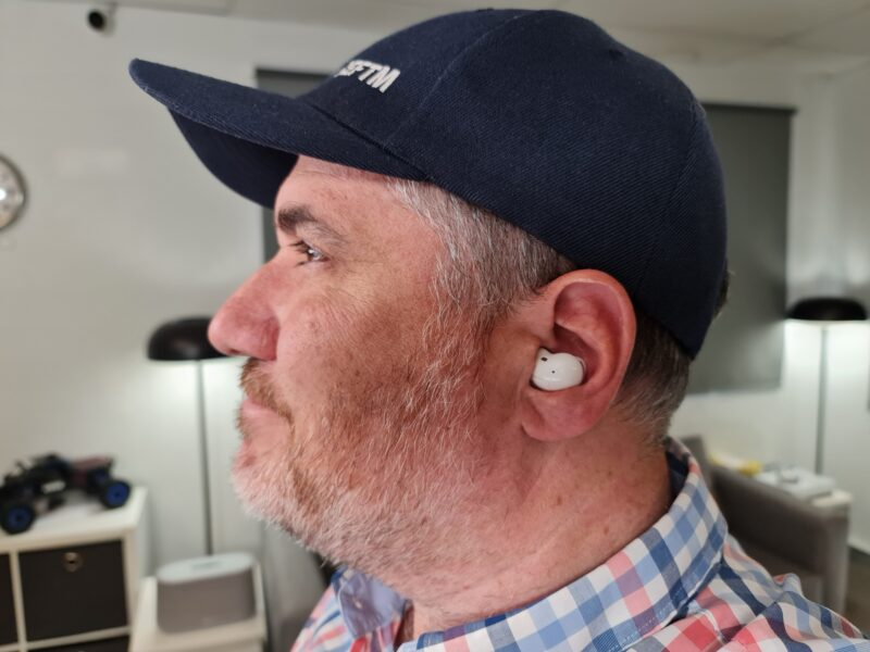Trevor Long wearing the Samsung Galaxy Buds Live