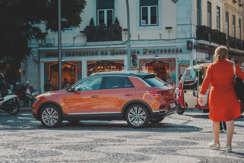 New Volkswagen T-Roc in a street plaza - available to Order Online
