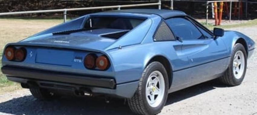 Ferrari 308 in light blue