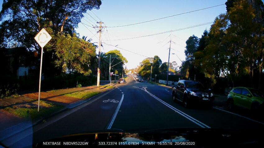 Sample daytime shot from the Nextbase 522GW Dashcam