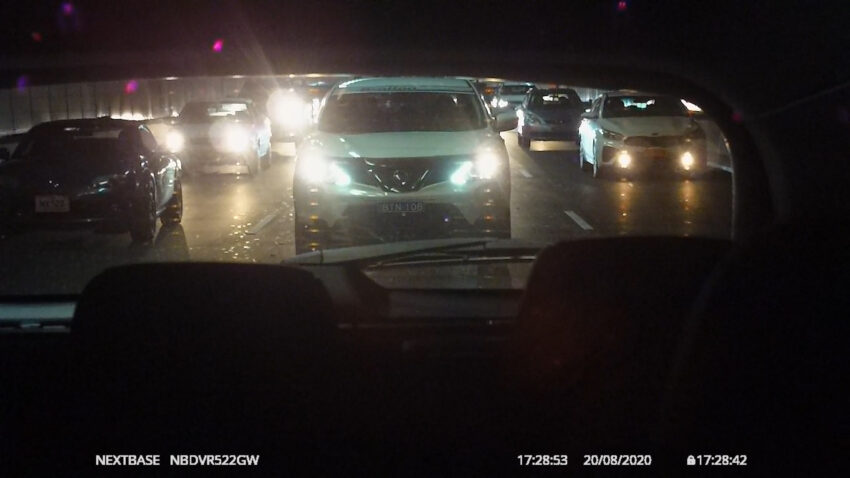 Sample shot from the rear-view camera on the Nextbase 522GW Dashcam