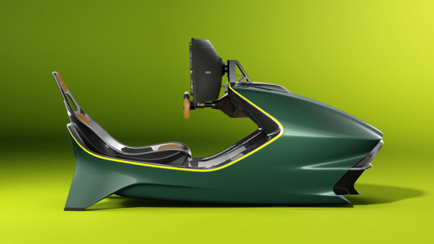 Side on view of the Aston Martin AMR-C01 Racing Simulator