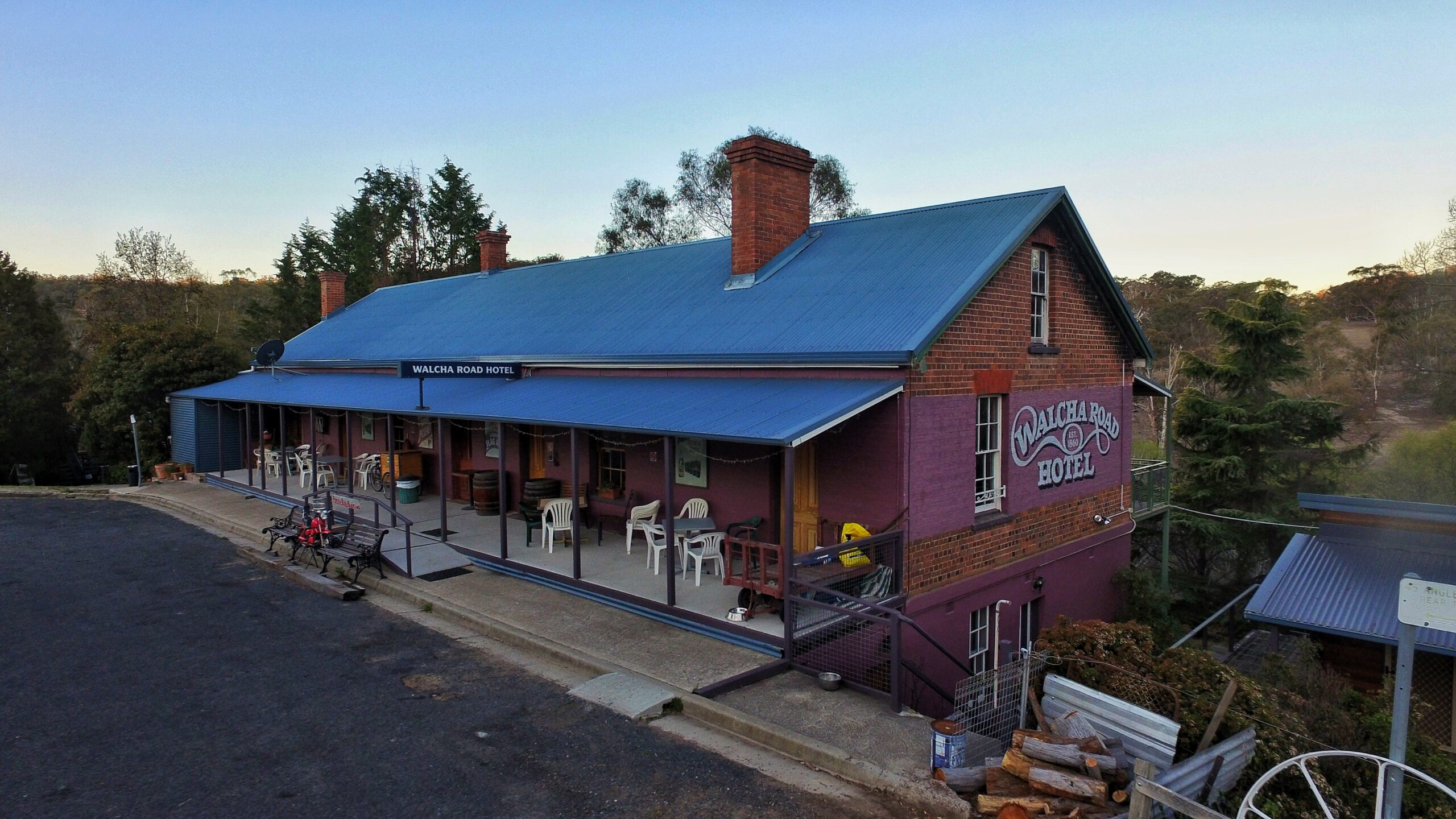 The Walcha Road Hotel which is using the Service NSW app and QR Code
