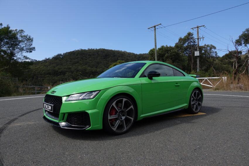 The green Audi TT RS
