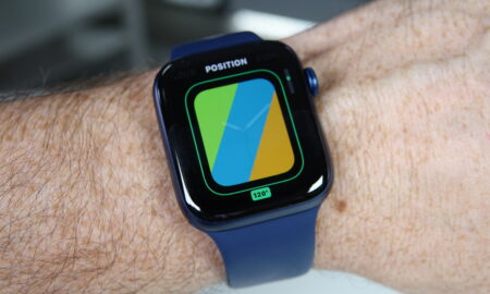 New Apple Watch Series 6 stripe watch face