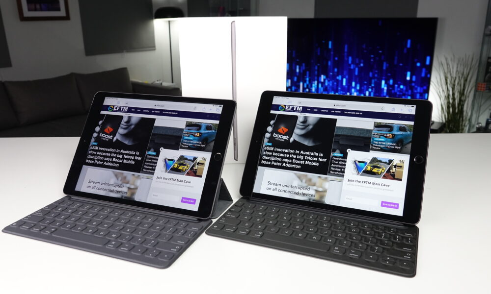 Two iPads showing EFTM website