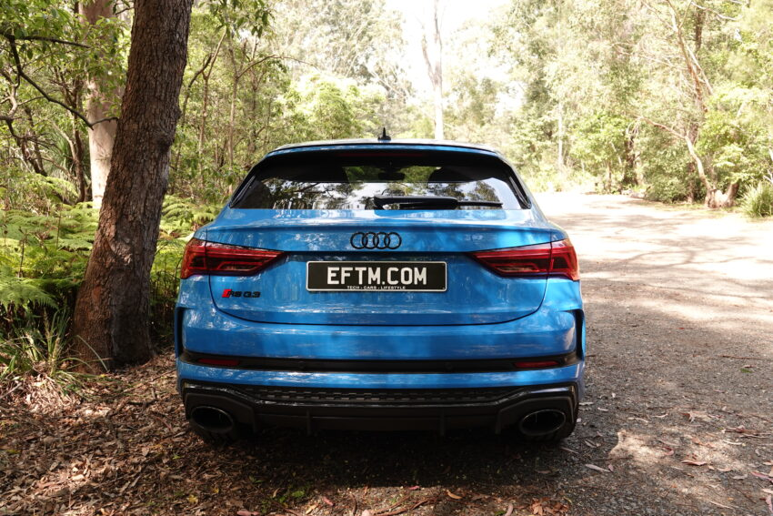 Audi RS Q3 Sportback from behind with EFTM numberplate
