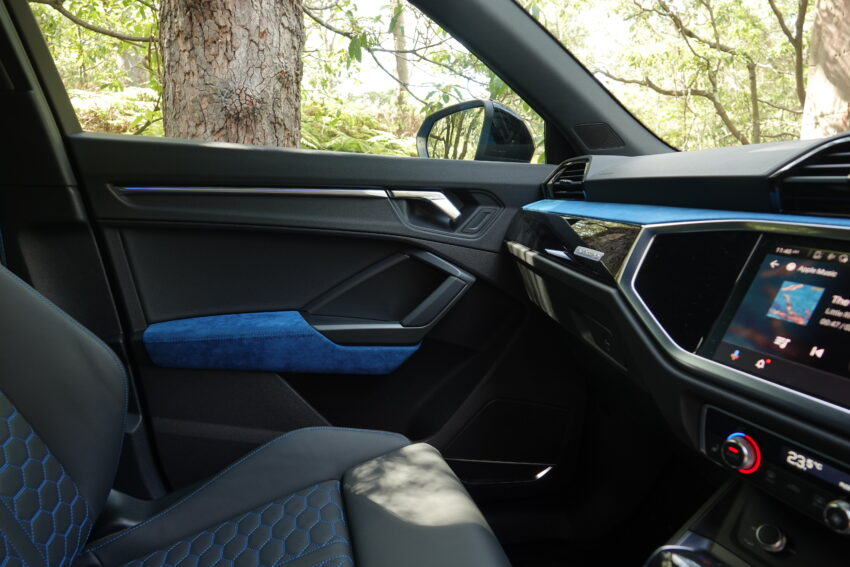 inside the Audi RS Q3 Sportback