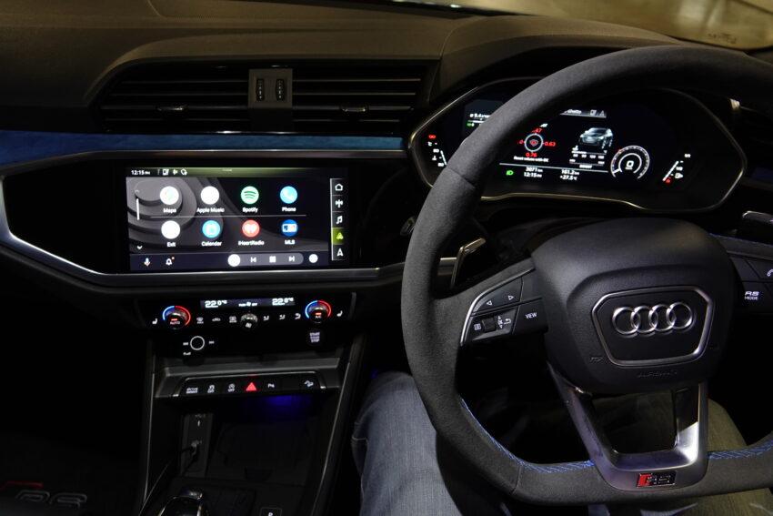 interior of the Audi RS Q3 Sportback