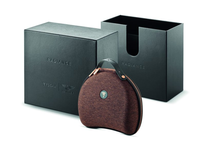 Focal Radiance for Bentley headphones packaging shown