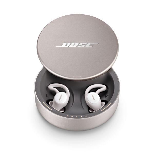 Bose Sleepbuds II in their charging case.