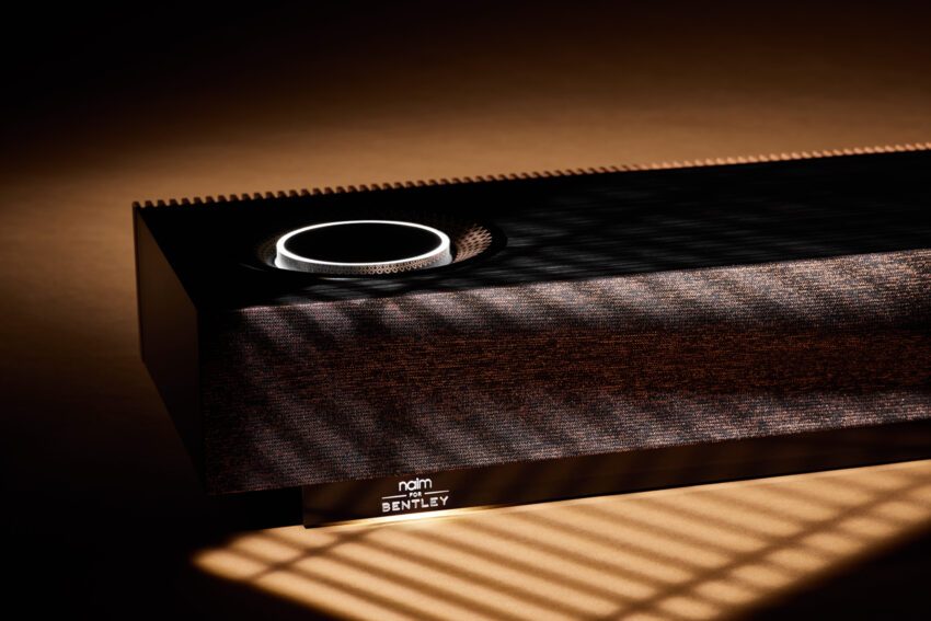 Naim Mu-so for Bentley in shadow from window blinds