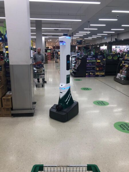 Woolworths Robot out on patrol