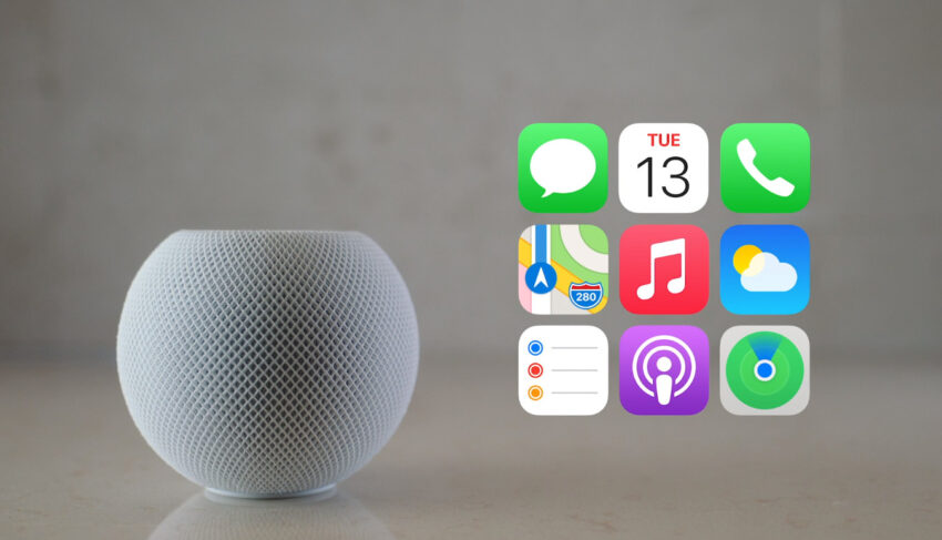Services and Apps accessible via Apple HomePod Mini
