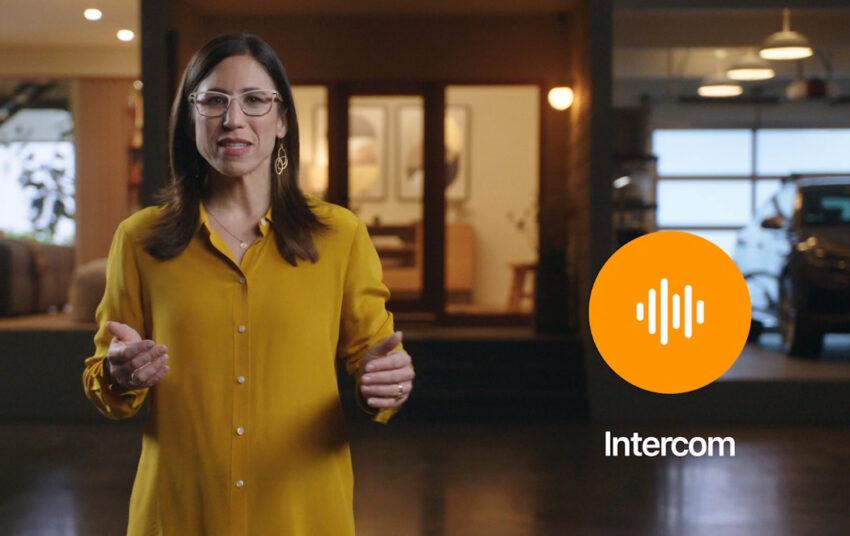 Apple employee announcing Intercom for Apple HomePod Mini