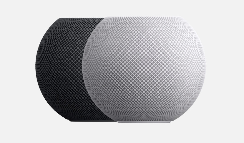 Apple HomePod Mini in Space Grey and White