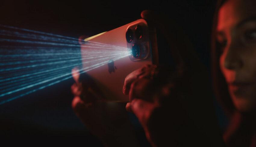 Lidar Sensor simulated on a phone camera