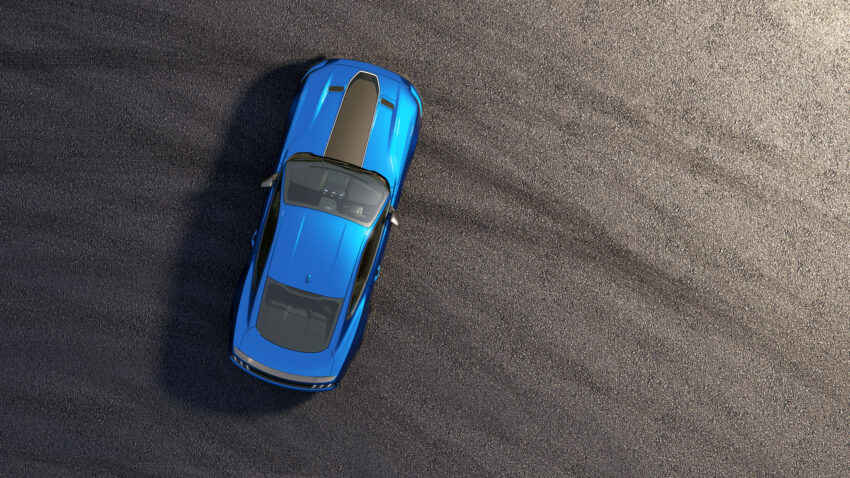 Ford Mustang Mach 1 from above